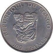 100 Francs (Spinosaurus) – avers
