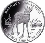 1000 Francs CFA (Madoqua Piacentinii) – revers