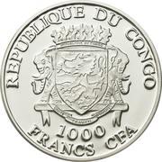 1000 Francs CFA (Venchanie) – avers
