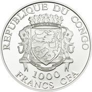 1000 Francs CFA (Pyotr and Feuronia) – avers