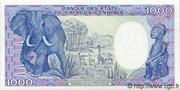 1,000 Francs -  revers