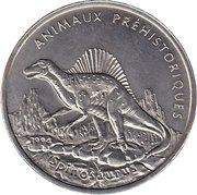 100 Francs (Spinosaurus) -  revers