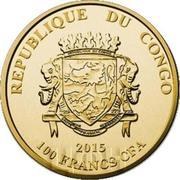100 Francs CFA (Tenochtitlan) – avers
