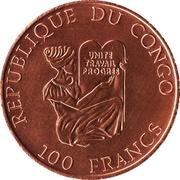 100 francs (Quatre élephants) – avers