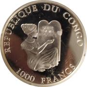 1000 Francs CFA (Coupe du monde de football Italie 1990) – avers