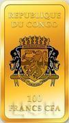 100 Francs CFA (Jacobus Maior) – avers