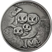 2000 Francs CFA (Meerkats) -  revers