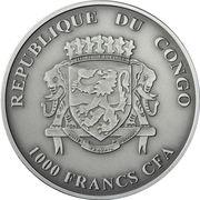 1000 Francs CFA (Gorille) – avers