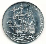 100 Francs CFA (Galion espagnol) – revers