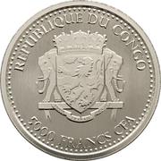 5000 Francs CFA (Congo Silverback Gorilla) – avers