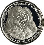 5000 Francs CFA (Congo Silverback Gorilla) – revers