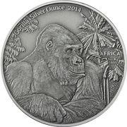 1000 Francs CFA (Gorille) – revers