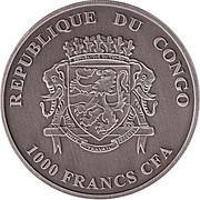 1000 Francs CFA (Hippopotame) – avers