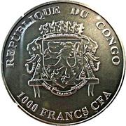 1000 francs CFA (Suricates) – avers