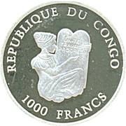 1000 Francs (Dernière émission du franc français) – avers