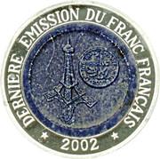1000 Francs (Dernière émission du franc français) – revers