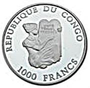 1000 Francs CFA (Michel-Ange) – avers