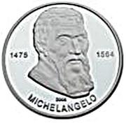 1000 Francs CFA (Michel-Ange) – revers