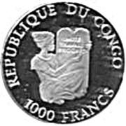 1000 Francs CFA (Immanuel Kant) – avers
