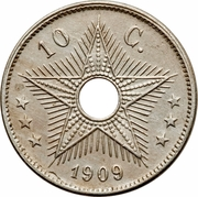10 centimes - Leopold II – revers