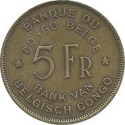 5 francs - Régence du Prince Charles – revers