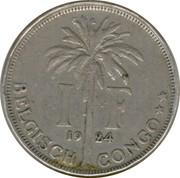 1 franc - Albert Ier (en néerlandais) – revers