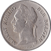 50 centimes - Albert I (en néerlandais) – avers