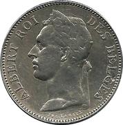 50 centimes - Albert I (en français) – avers