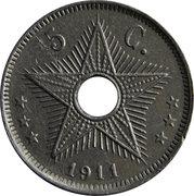 5 centimes - Albert I – revers