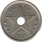 20 centimes - Albert I – revers