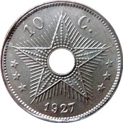 10 centimes - Albert I – revers