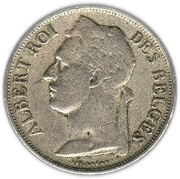 1 franc - Albert Ier (en français) – avers