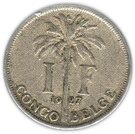1 franc - Albert Ier (en français) – revers