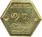 2 francs - Léopold III – revers