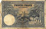 20 Francs with EMISSION – revers
