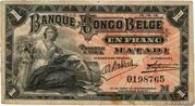 1 Franc (Matadi) – avers