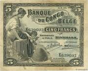 5 Francs (Kinshasa) – avers