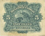 5 Francs (Kinshasa) – revers