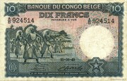 10  Francs (without overprint) – avers
