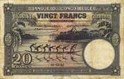 20  Francs (violet; DEUXIEME EMISSION) – avers