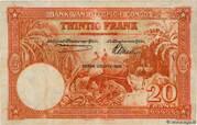20  Francs (orange; TROISIEME EMISSION) – revers