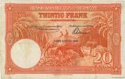 20  Francs (orange; CINQUIEME EMISSION) – revers