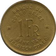 1 franc - Léopold III – revers