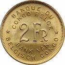 2 francs - Régence du Prince Charles – revers