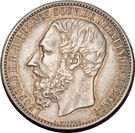 5 francs - Léopold II – avers