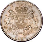 5 francs - Léopold II – revers