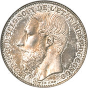 2 francs - Léopold II – avers