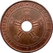 10 centimes - Léopold II – avers