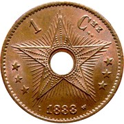 1 centime Leopold II – revers