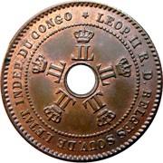 2 centimes - Leopold II – avers